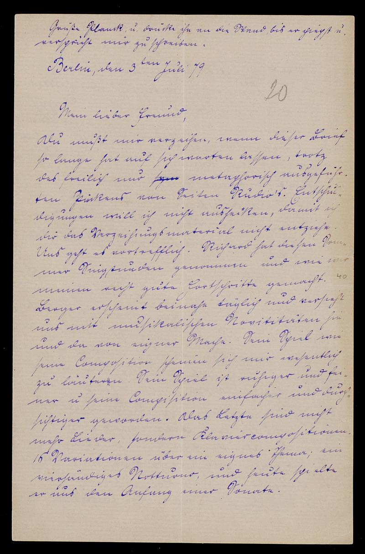 Brief von Carl Runge an Adolf Hurwitz, Berlin, 3.7.1879