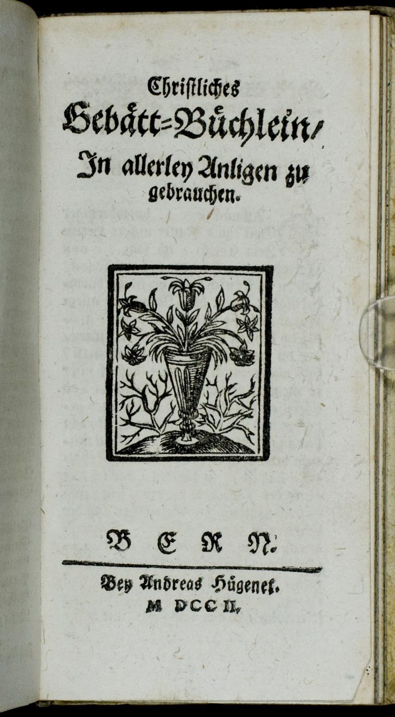 Christliches Gebätt-Büchlein