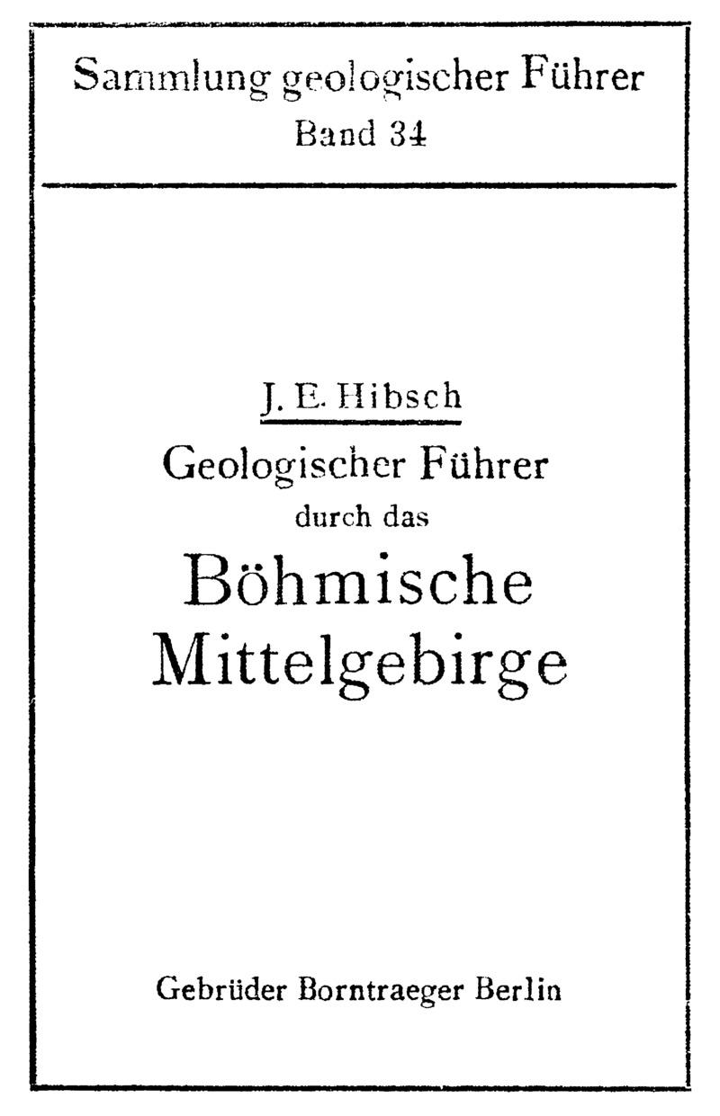 Geologischer Führer durch das böhmische Mittelgebirge