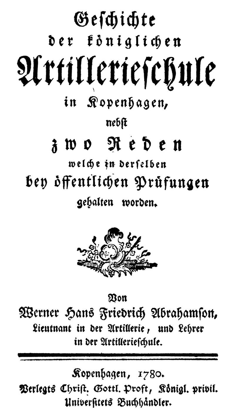 Geschichte der Königlichen Artillerieschule in Kopenhagen