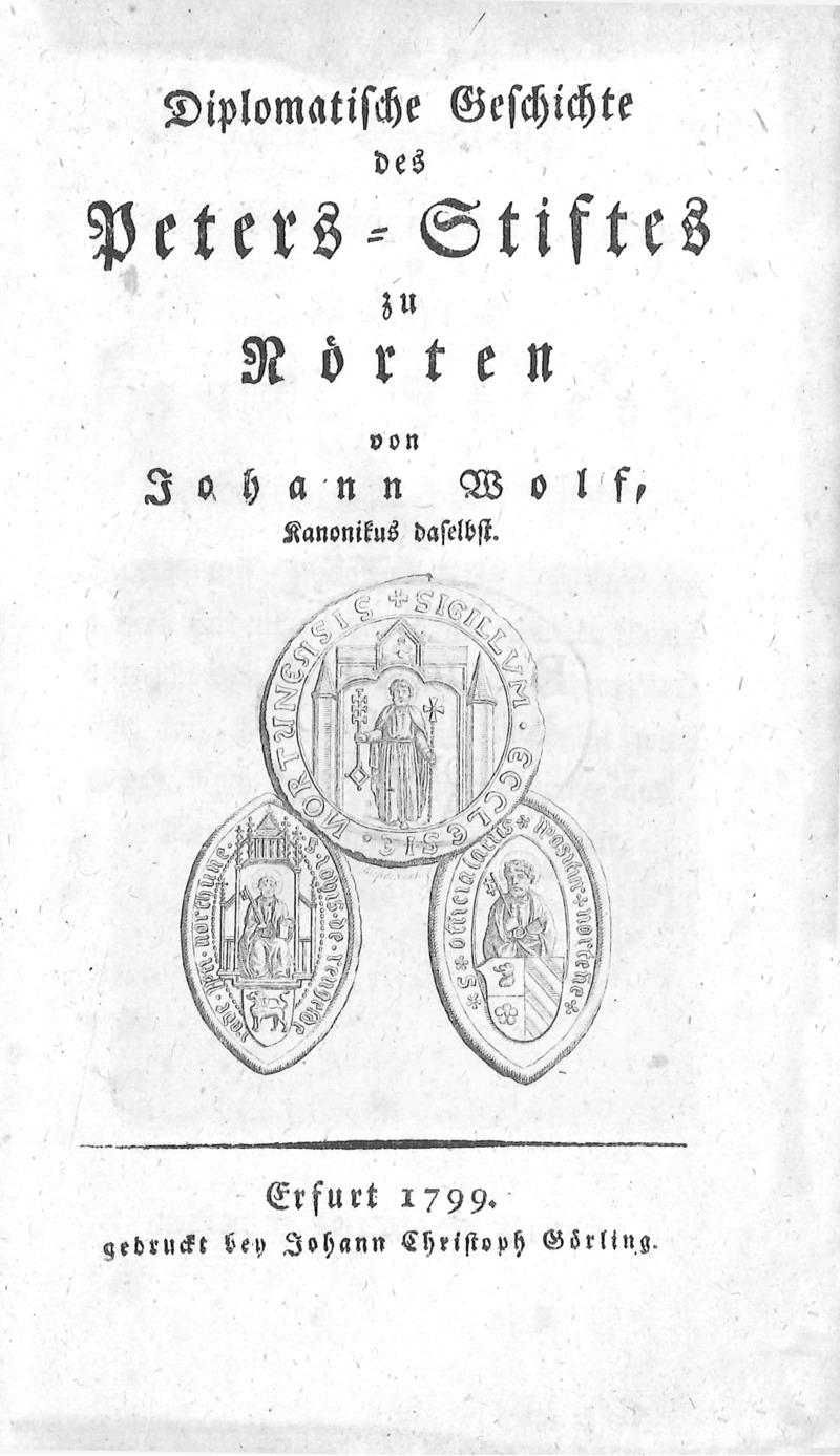 Diplomatische Geschichte des Peters-Stiftes zu Nörten