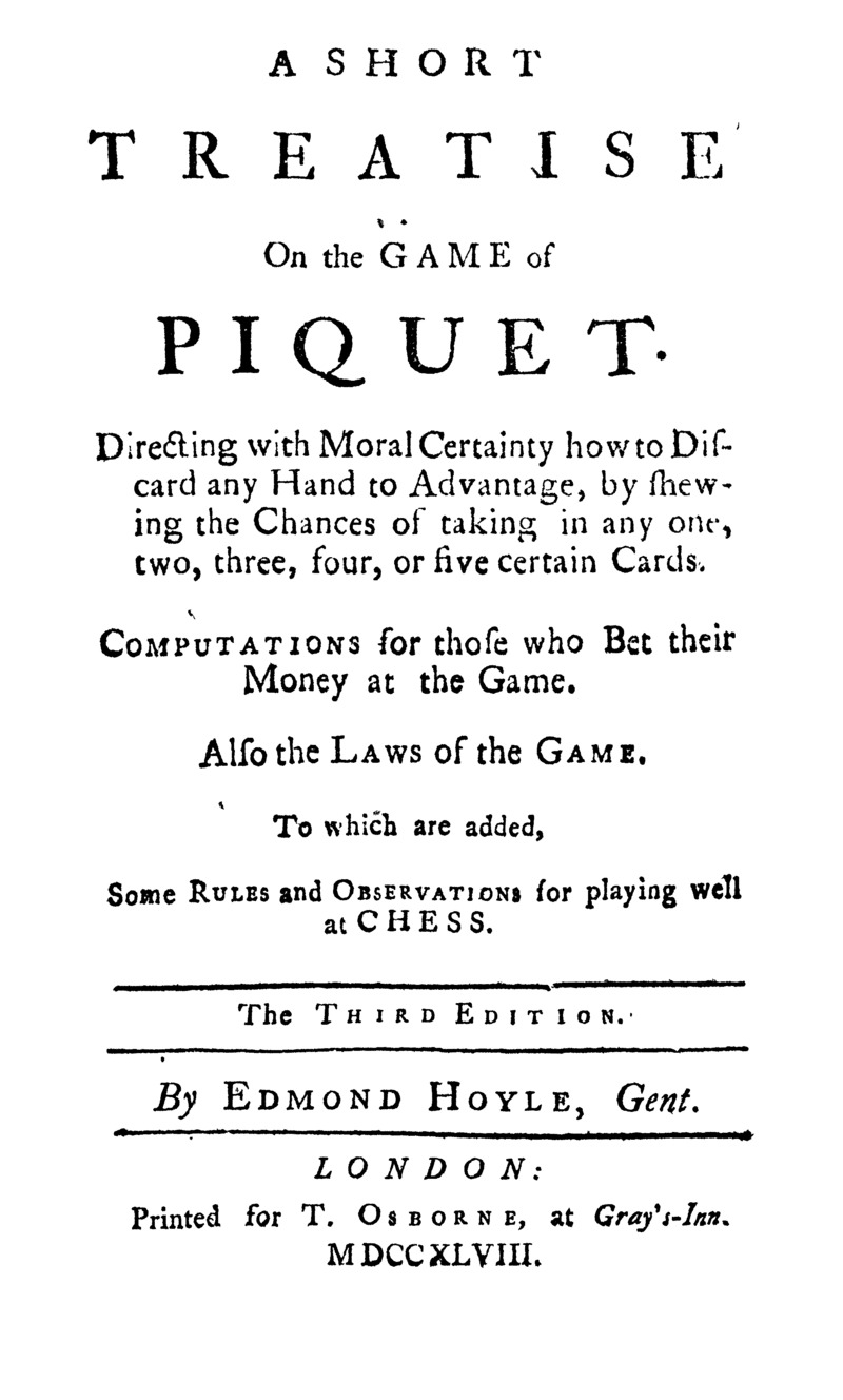 A short treatise on the game of piquet